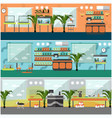 set of pet shop interior concept posters vector image vector image