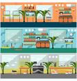 set of pet shop interior concept posters vector image vector image