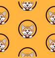 shiba inu dog pattern background vector image vector image