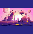 space game background with landscape planet vector image vector image