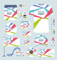 Stationery template design vector image vector image