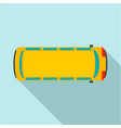 top view school bus icon flat style vector image vector image