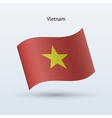 Vietnam flag waving form vector image vector image