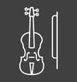 Violin line icon music and instrument
