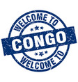welcome to congo blue stamp vector image vector image