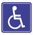 wheelchair icon for the disabled vector image vector image