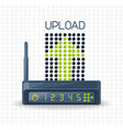 wifi router icon related with upload internet vector image vector image