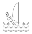 Windsurfer icon simple style vector image vector image