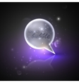 with silver speech bubble vector image vector image