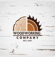 woodworking logo design element stock