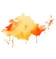 yellow and orange watercolor splash texture vector image vector image