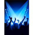 Crowd at concert vector image