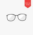 Glasses icon Flat design gray color symbol Modern vector image
