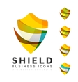 Set of protection shield logo concepts vector image