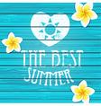 Wooden background Summer vector image