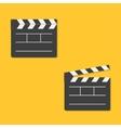 Close and open movie clapper board template icon vector image