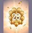 28th year anniversary background vector image vector image