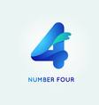 4 digit icon vector image