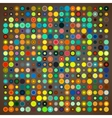 abstract background colored circles vector image