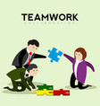 abstract teamwork concept image vector image