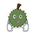 afraid durian mascot cartoon style vector image vector image