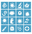 bacteria virus and micro organisms vector image vector image