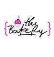 Bakery Hand drawn calligraphy lettering branding vector image