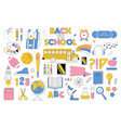 big education set collection icons vector image