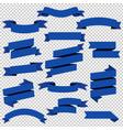 blue web ribbons set transparent background vector image vector image