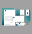 branding identity template corporate company vector image vector image