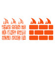 brick firewall mosaic of repair tools vector image