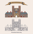 building of princeton university education vector image vector image
