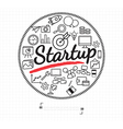 Business start up icon on white vector image vector image