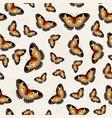 butterflies texture pattern vector image