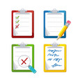 checklist dashboards survey icon set vector image vector image