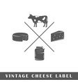 cheese label vector image