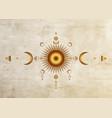 circle a moon phase triple goddess pagan wicca vector image