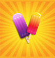 colorful ice cream sunburst background vector image vector image