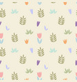 delicate floral pattern seamless background vector image vector image
