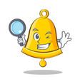 detective school bell character cartoon