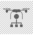 Drone Distribution Grainy Texture Icon vector image vector image
