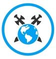 Earth Swords Icon vector image vector image