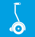 electrical self balancing scooter icon white vector image vector image