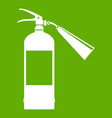 fire extinguisher icon green vector image vector image