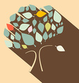 Flat Design Retro Tree vector image vector image
