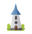 flat fairy tale castle medieval palace vector image vector image
