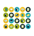 Flat icons set 21 vector image vector image