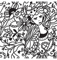 Floral woman seamless pattern - fashion concept vector image vector image