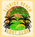 florida - concept in vintage graphic style for vector image