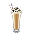 Frappe iced coffee isolated vector image vector image